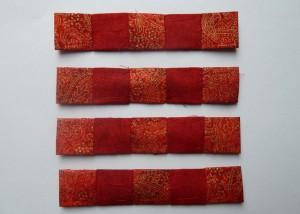 12. del af det gratis patchwork mønster fra HANNES patchwork Jule DHD