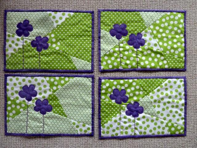 4xdækkeservietter med blomster fra HANNES blog