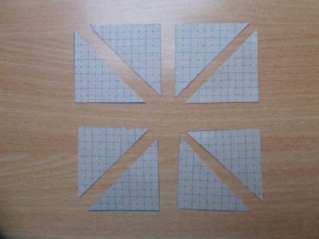 5. del af HANNES jule DHD - det gratis patchwork mønster trekanter