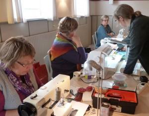 Bettina Andersen patchwork kursus 12 - Byens huse - hos HANNES patchwork