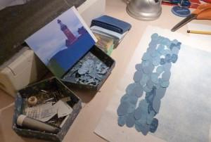 Bettina Andersen patchwork kursus 4 - Byens huse - hos HANNES patchwork