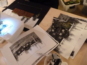 Bettina Andersen patchwork kursus 5 - Byens huse - hos HANNES patchwork