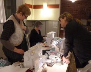 Bettina Andersen patchwork kursus 6 - Byens huse - hos HANNES patchwork