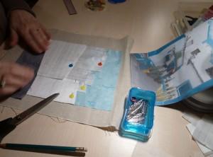 Bettina Andersen patchwork kursus 7 - Byens huse - hos HANNES patchwork