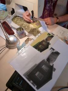 Bettina Andersen patchwork kursus 9 - Byens huse - hos HANNES patchwork