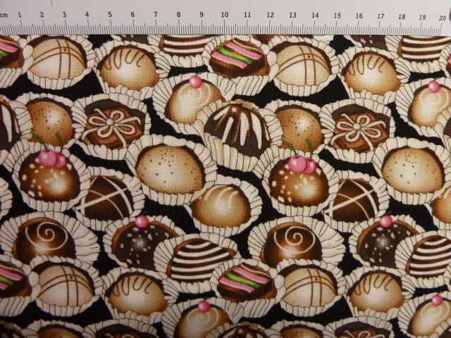 Chokolde-kage patchworkstoffer 1