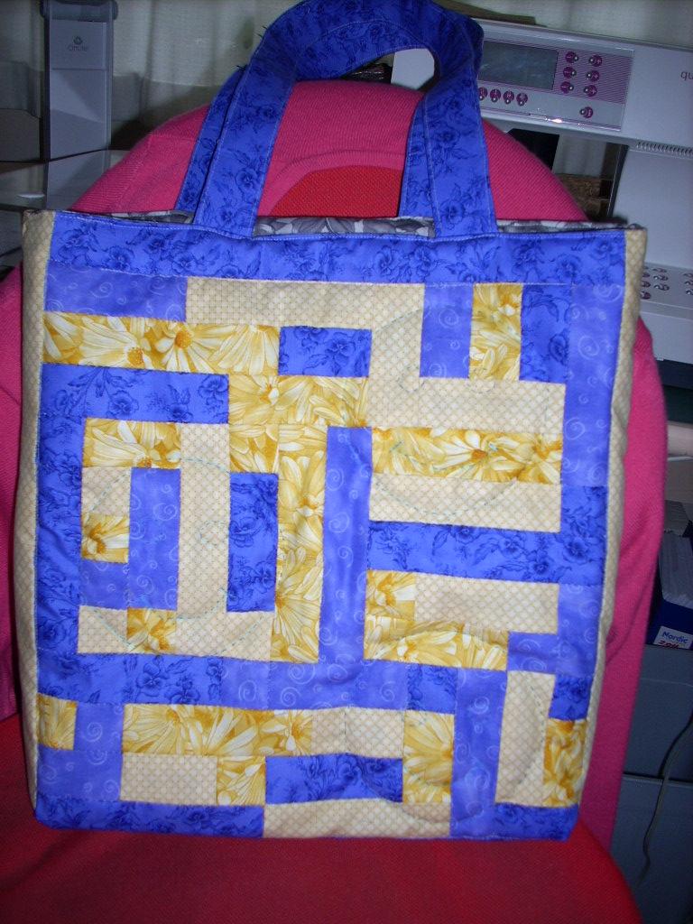 Anne-Lises taske -endnu en udgave af HANNES patchwork sommer DHU