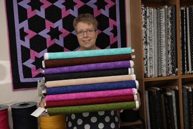 Hanne bech i sinlille patchwork butik