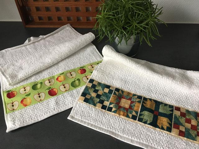 Forny dine håndklæder med patchworkstof