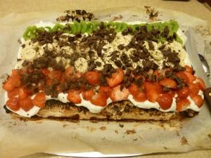 Gittes frugt kage - set på HANNES blog