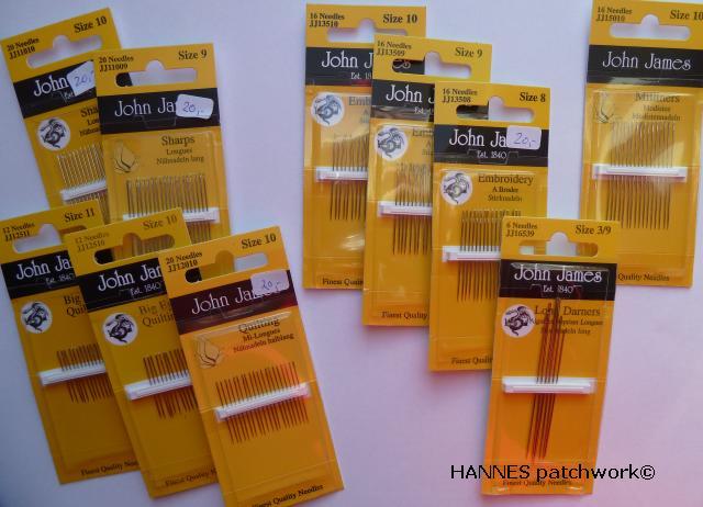 Giveaway vind 10 pakker gode patchwork nåle