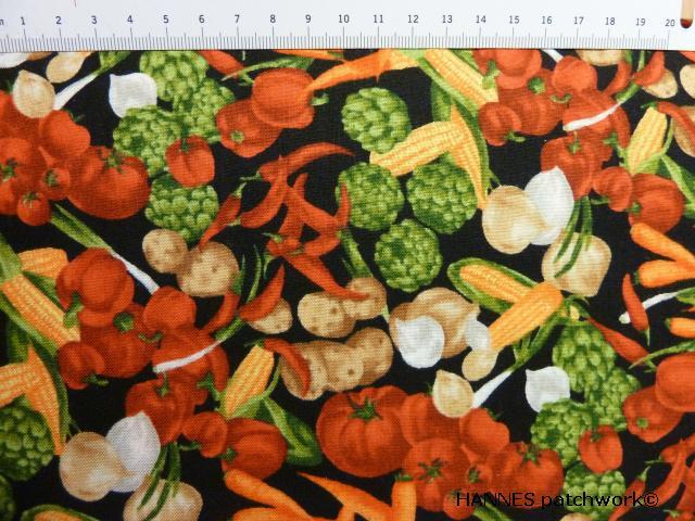 Grøntsage patchworkstof