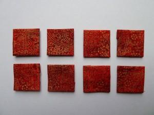 HANNES patchwork Jule DHD 2011 8 x rødt jule patchwork stof