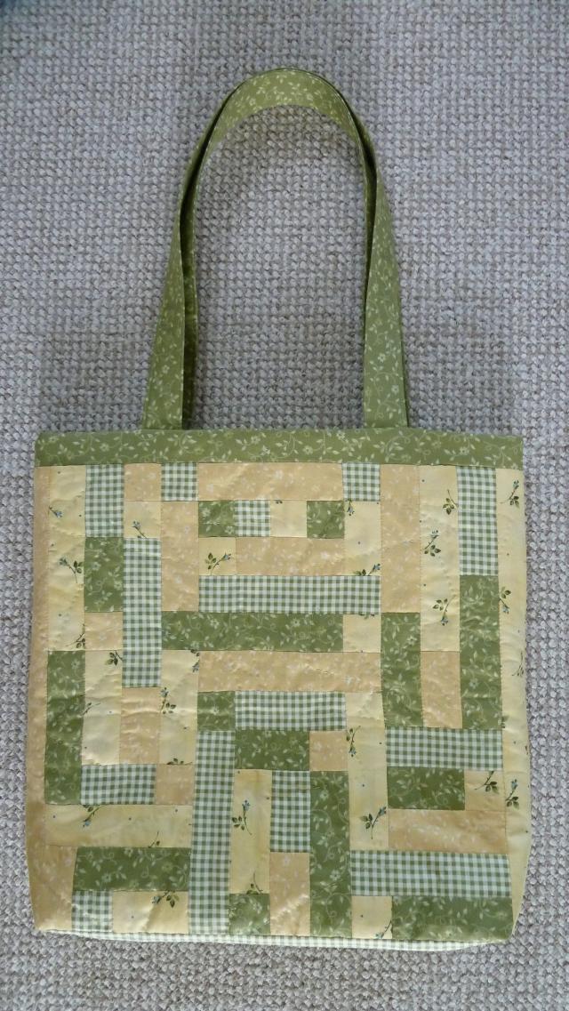 HANNES patchwrok sommer DHU - færdig patchwork taske
