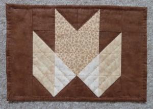 HANNES patchwork sommer DHU - dækkeserviet med quiltning på en måde