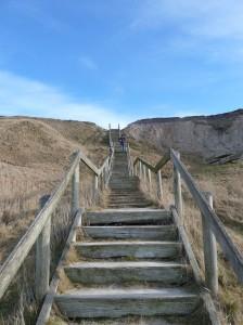 HANNES fridag uden patchwork - ved Bovbjerg fyr - trappen