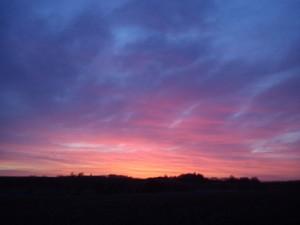 HANNES blog om patchwork - flot solopgang
