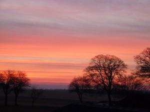 Flot solopgang over Vejerslev - se mere på Hannes blog 220111