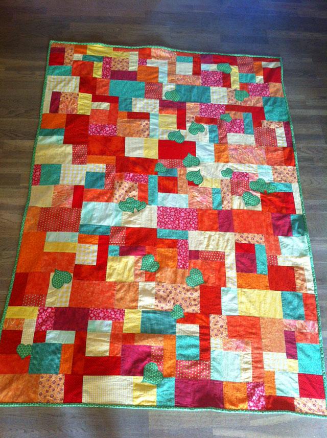 Nyt patchwork tæppe