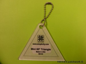 Mini 60 grader Triangle -  Mini Patchwork lineal