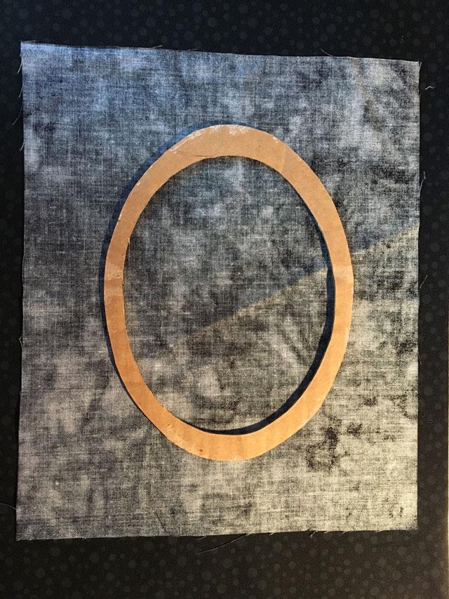 Passepartout i patchworkstoffer til broderier - DIY