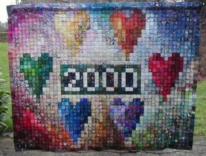 Patchwork drømmen 62 - se mere på HANNES blog om patchwork