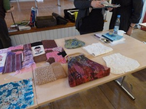 Taske kursus med Bettina Andernsen hos HANNES Patchwork fremvisning
