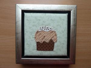 """Applikeret muffins - et gratis patchwork mønstre fra """"HANNES"""" patchwork - nu i ramme"""