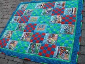 Bedstemors patchwork tæppe Gæste blogger på HANNES blog om patchwork