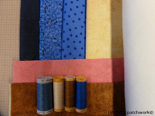 blå udgave af HANNES patchwork DHU sykit