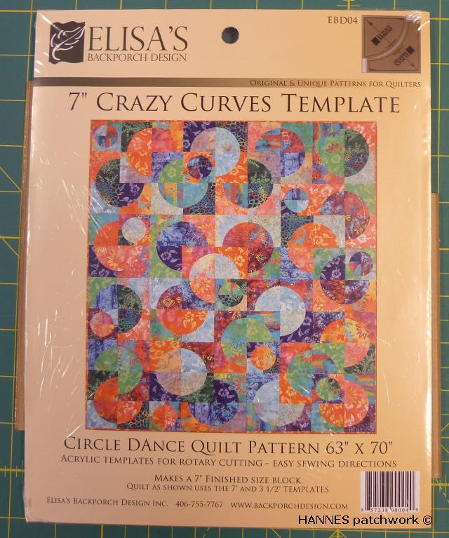 crazy curves template Buet former til patchwork - Crazy Curves template.