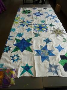 Freja quilternes maraton syning - fælles patchwork tæppe