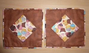 Ronja grydelapper - igen et pedari patchwork mønster fra HANNES patchwork