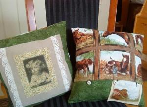 Patchwork pude med heste - Gæsteblogger på HANNES blog