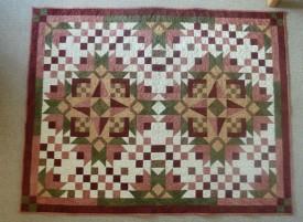 Bodils meget flotte månedstæppe fra HANNES patchwork