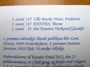 julekort fra Husflid i midtjylland til HANNES patchwork