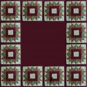 """""""HANNES"""" julepatchwork DHD  - her som et juletræstæppe"""