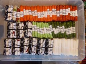 Kasser med patchwork stoffer 1