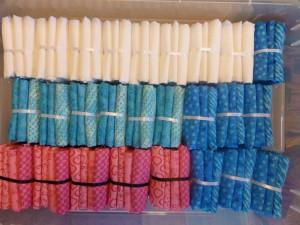 Kasser med patchwork stoffer