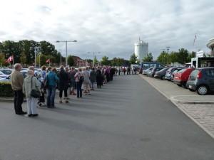 Kreativ fritid i Viborg - HANNES PAtchwork - kø ved indgang