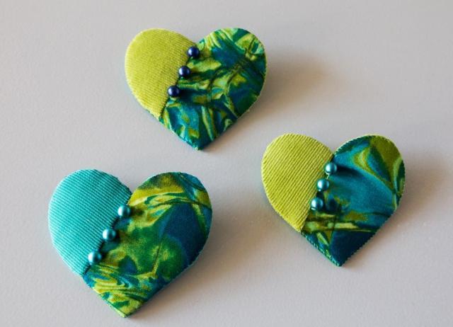 mini hjerter - gratis møsnter fra HANNES patchwork