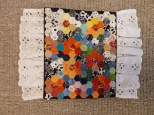 Sekskanter- mini patchwork sengetæpper - HANNES patchwork gæsteblogger
