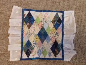 Rumber-mini patchwork sengetæpper - gæsteblogger på HANNES Blog