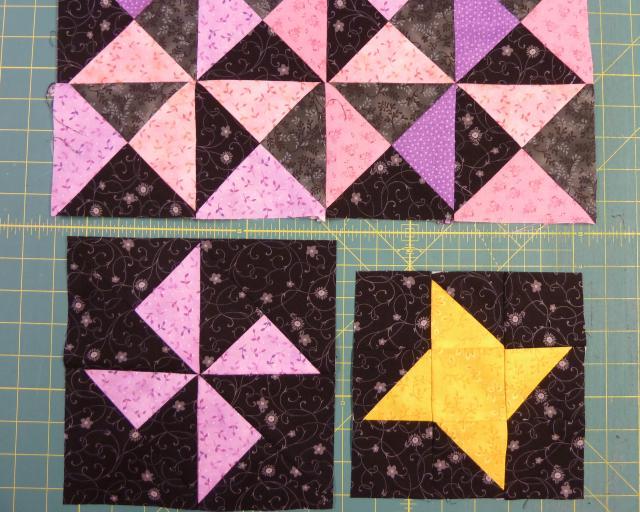 Nemme trekanter af firkanter - HANNES sy patchwork skole