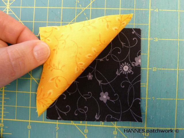 nemme trekanter3 Nemme trekanter af firkanter - HANNES sy patchwork skole