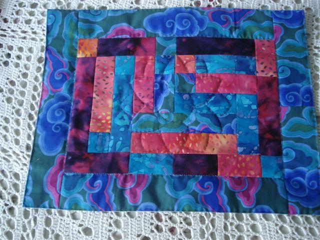 HANNES patchwork sommer DHU - dækkeservetter - syet af Hanne