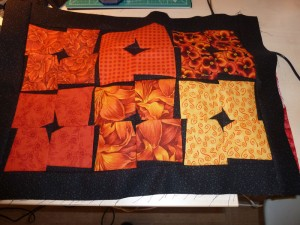 """Tæppe patchwork kursus hos """"HANNES"""" Patchwork -  blomster"""