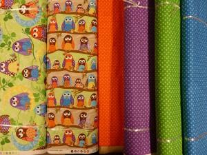 Flotte patchwork stoffer fra HANNES patchwork med ugler