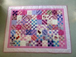 quilt-pink-patchwork tæppe hel