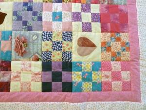 quilt-pink-patchwork tæppe